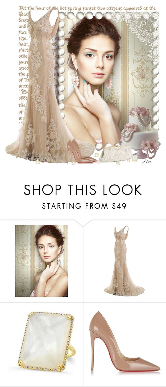"""The Day"" by lmm2nd ❤ liked on Polyvore featuring York Wallcoverings and Christian Louboutin"