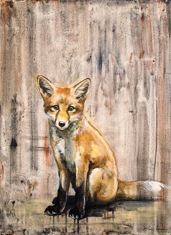 Sweet Red Fox Kit Giclee Print by WildPaintings on Etsy