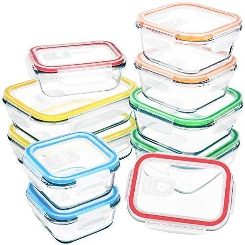 Reusable Plastic Clear Food Storage Container Lunch Box Airtight Seal With//Lid