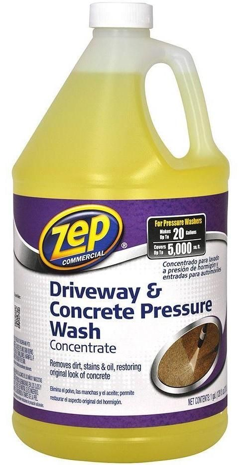 Zep Zubmc128 Driveway Concrete Pressure Wash Concentrate Gallon The Best Window Cleaning Pressure Washing Roof Cleaning Wash