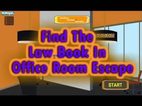 OnlineGamezWorld Find The Law Book In Office Room Escape Walkthrough ...