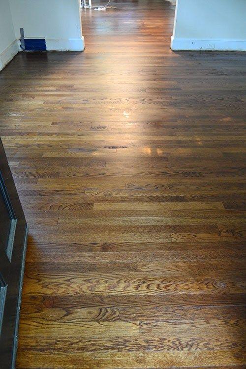 Minwax Provincial Vs Dark Walnut Staining Wood Floors Red Oak Hardwood Floors Hardwood Floor Colors