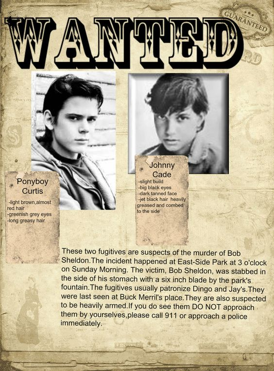 Wanted Poster | The outsiders | Pinterest | Poster