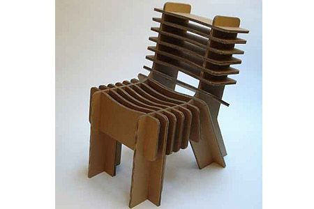Cardboard Chair Design With Legs O