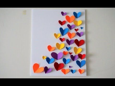 Diy Wall Decoration Ideas Color Paper Wall Hanging Arts And