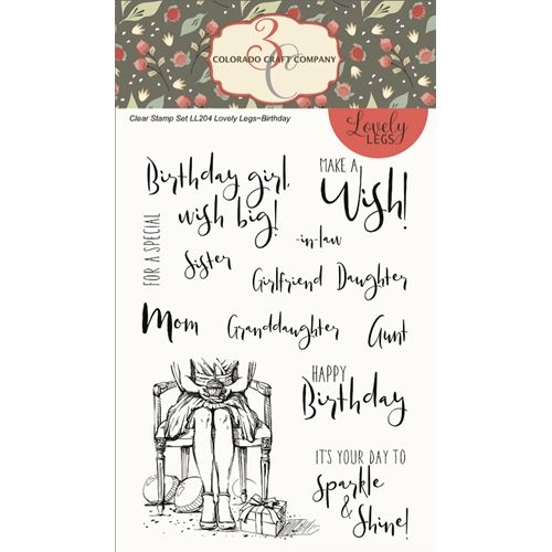 Colorado Craft Company Lovely Legs Birthday Clear Stamps Ll204