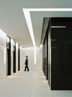 Wayfinding to elevator lobby by light cove in ceiling for Elevator flooring options