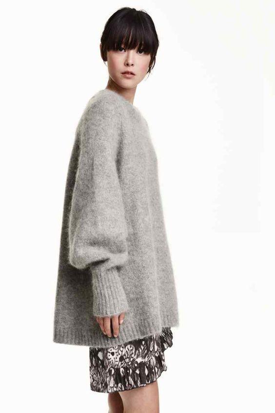 Camisola em mistura mohair | H&M