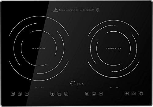 New Empava Idc12b2 Horizontal Electric Stove Induction Cooktop 2 Burners Black Vitro Ceramic Smooth Surface Glass 120v 12 Inch Online Shopping In 2020 Electric Stove Single Wall Oven