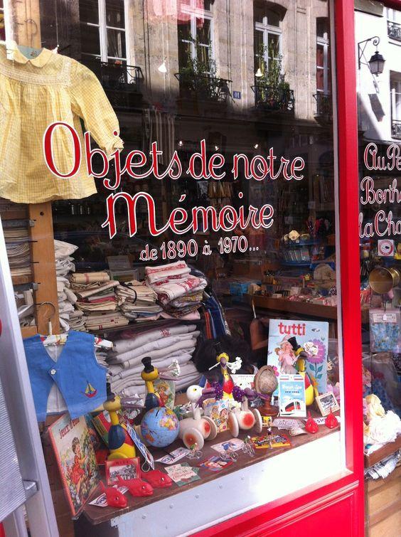 Tienda vintage en Paris