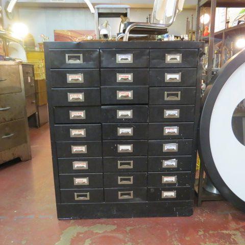 SOLD now $177, originally $295. vintage antique 27 drawer green ...
