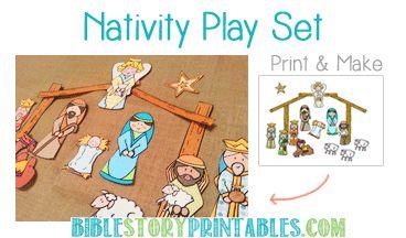 Nativity Printable Play Set - cutest nativity I've seen yet!