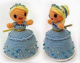 Crochet Dolls Hat Pattern : 2000 Free Amigurumi Patterns: Magic Cinderella doll ...
