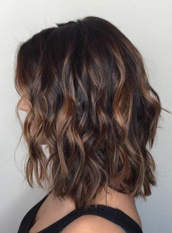 cabelos com luzes mel ideal