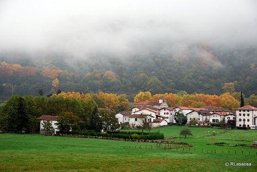 Vista otoñal de Narbarte, Bertizarana, Navarra