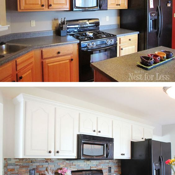 I renovated my kitchen on a strict budget, and it only cost me $93 to completely transform my kitchen from bland builder-grade oak to bright white.