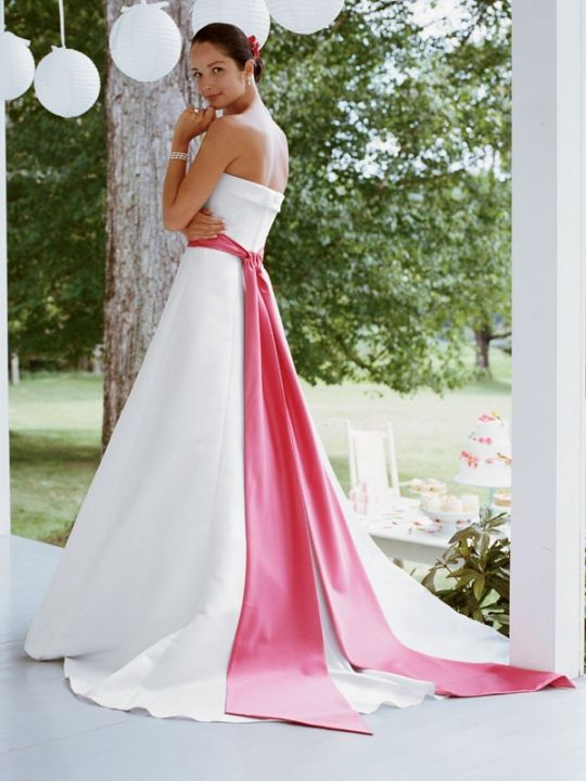Yes I will have a hot pink bow around my wedding dress!  That ...