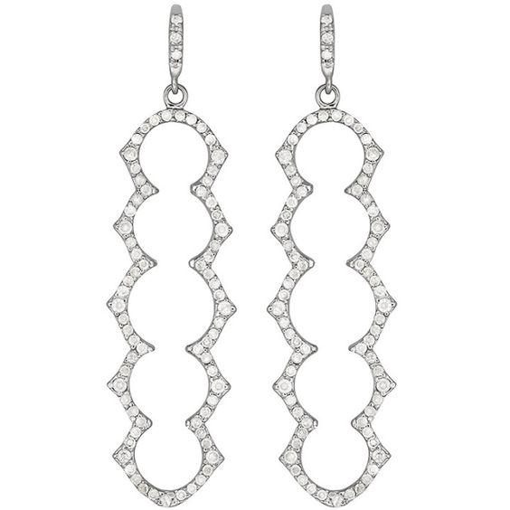 Olympia Five Stone Drop Earrings | Shawn Warren Jewerly
