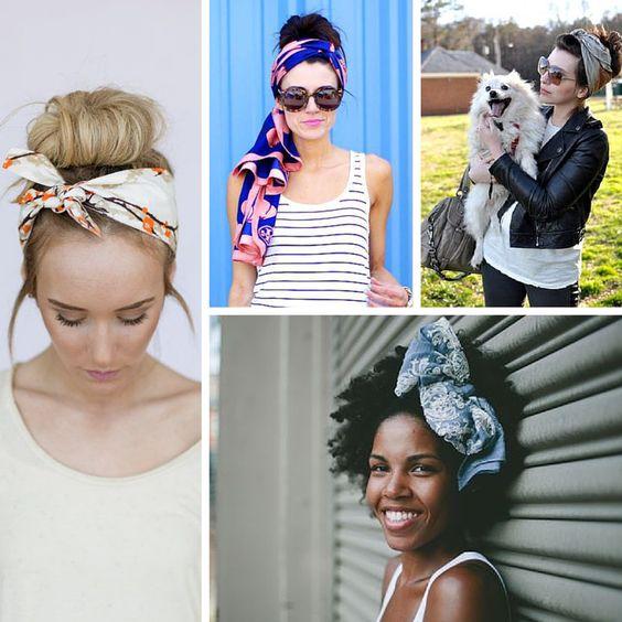 A gente ama lenço no cabelo!