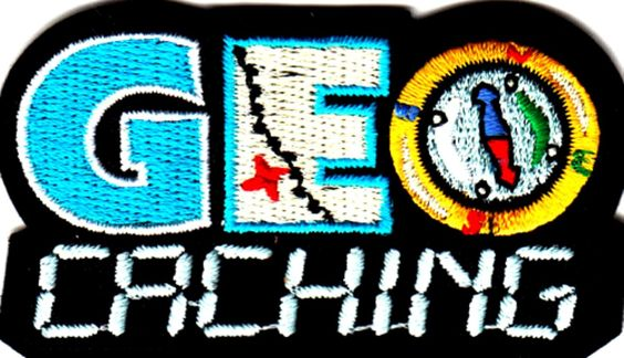 "Amazon.com: [Single Count] Custom and Unique (2 1/2"" by 1 1/2"" Inches) Sunny Day Outdoor Activities ""Geo Caching"" Iron On Embroidered Applique Patch {Black, White, Blue, and Yellow Colors}"