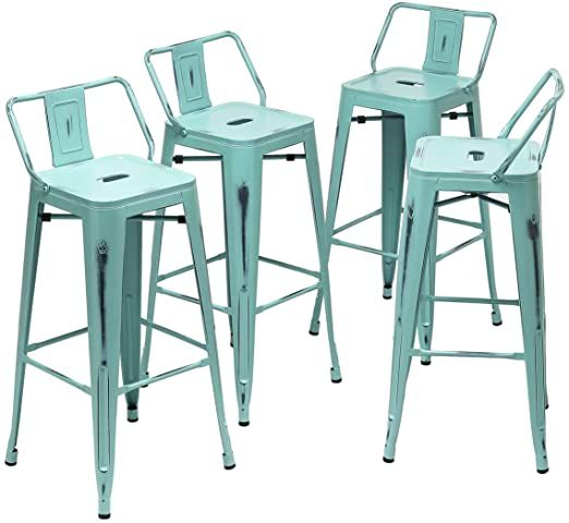 24 Inch Metal Barstools Set Of 4 Indoor Outdoor Bar Stools With Back Kitchen Counter Height Stools 24 Quot Metal Bar Stools Bar Stools Counter Height Stools Bar stool sets of 4