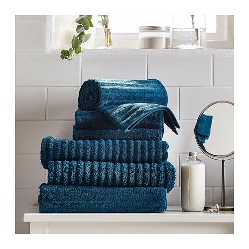 Flodalen Bath Sheet Dark Blue 39x59 Ikea Interieur Woonwinkel