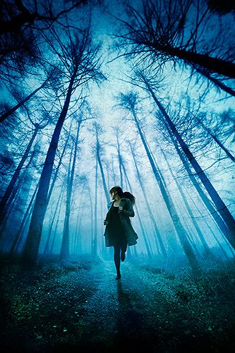 girl running away in woods | woman, running, through, forest, woods, trees, towards, fleeing, away ...