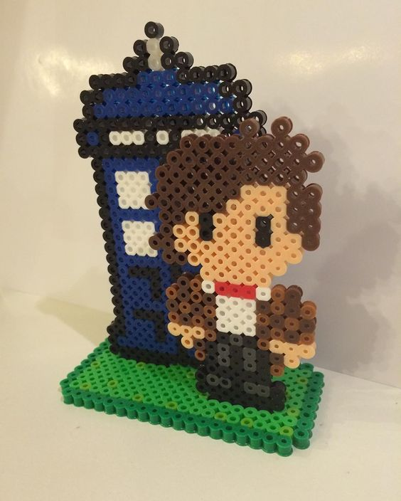 Doctor Who perler beads by crownandcrabbeads