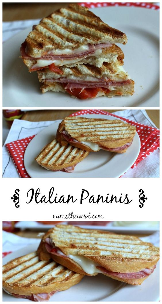 Italian Panini- sandwiches are one of the best quick meals. The bonus is that you can change up your sandwich any which way, in this case the Italian panini style. @numstheword