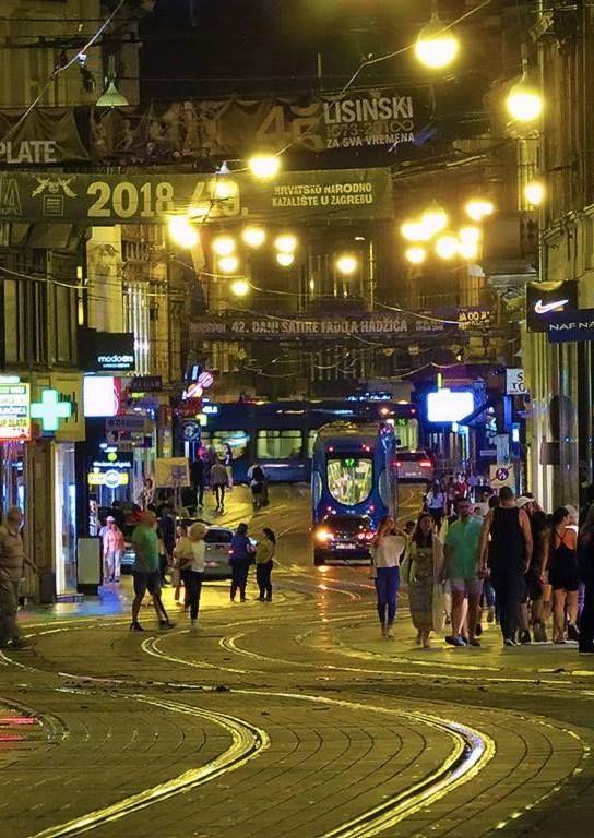 Zagreb Ilica Croatia Croatia Zagreb Night City
