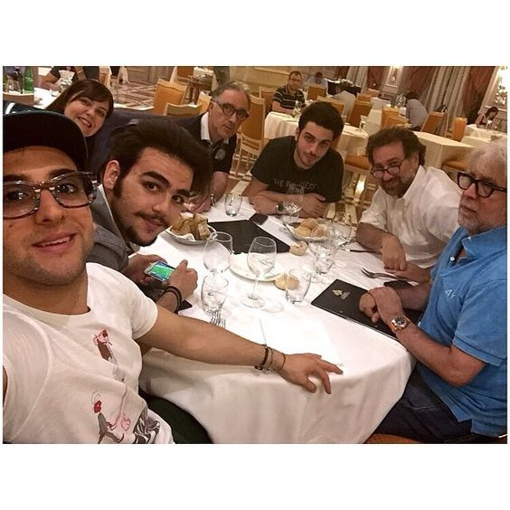 #Repost from @ilvolomusic with @ig_saveapp. Nothing better than a good dinner together after a working day! #IlVolo #workinprogress