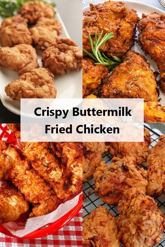 Crispy Buttermilk Fried Chicken In 2020 Fried Chicken Buttermilk Fried Chicken Soul Food
