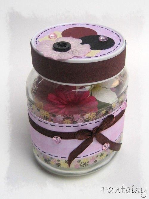 Objets & Déco - *** Pot en verre… - Boite à ATC - Cadeau de naissance - [ Cube ] 100% sirène - { Classeurs à… - Fantaisy Scrap