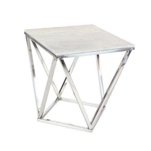 Burgett End Table With Images Square Accent Tables Marble