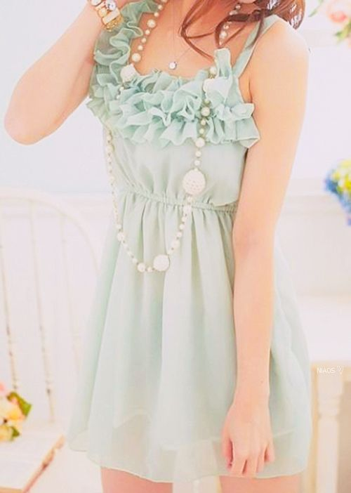 Seafoam green dress. Mmhm!