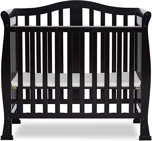 Best Seller Dream On Me Addison 4 1 Convertible Mini Crib Black Online Nanakoshopping In 2020 Mini Crib Dream On Me Cribs