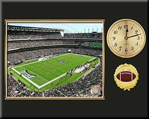 Philadelphia Eagles Team Stadium Photo Inserted In A Gold Slide In Frame & Mounted On A Plaque With Arabic Clock -Awesome & Beautiful-Must For Any Fan! Art and More, Davenport, IA http://www.amazon.com/dp/B00NIGAHKG/ref=cm_sw_r_pi_dp_-fLuub0EEK67W