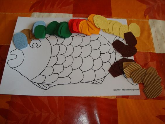 Bricolage poisson avril poisson pinterest bricolage - Poisson en maternelle ...