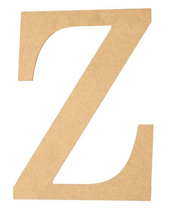 "10""H LETTER ""Z"" NATURAL   MDF Letters, Numbers & Shapes   Pinterest ..."