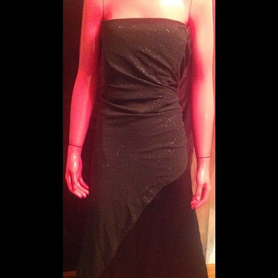 Onyx Nite brown evening gown Gorgeous brown Stan gown with sheer sparkle material Onyx nite Dresses Strapless