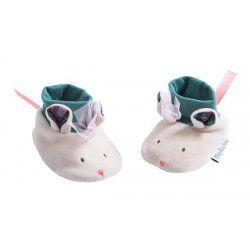 Baby Leder Schühchen Lederschuhe Babyschuhe Kätzchen Les Petits Dodos Moulin Rot