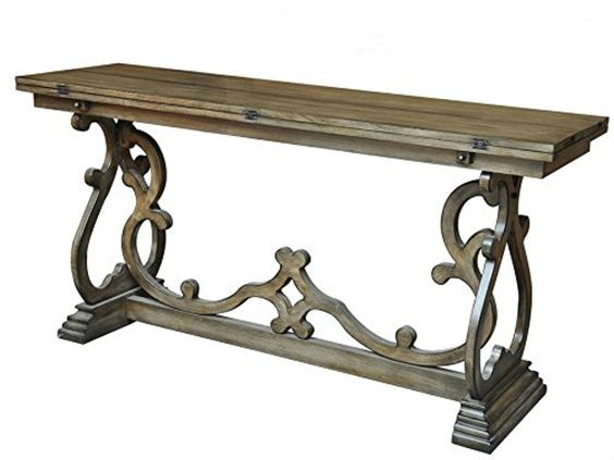 Maximize your space fold out console sofa table for Elegant fold out console table