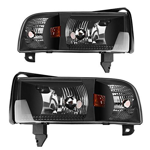 Autosaver88 For 94 95 96 97 98 99 00 01 Dodge Ram 1500 2500 3500 Headlight Assembly Oe Projector Headlamp Black Housing Dodge Ram 1500 Dodge Ram Dodge Ram 2500