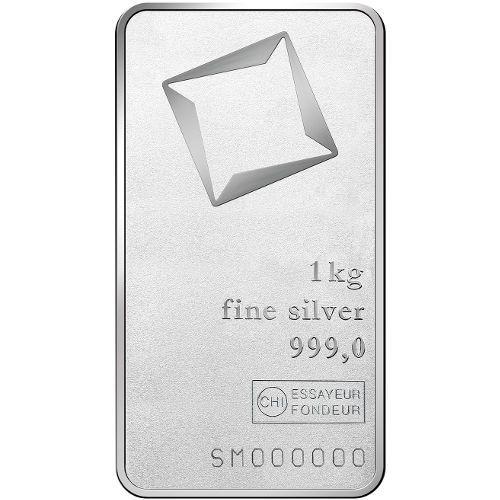 1 Kilo Valcambi Silver Bar Matte New W Assay Silver Bars Silver Fine Silver