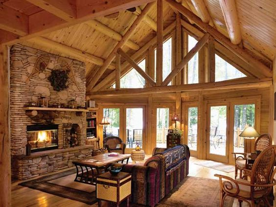 gallery for gt modern log cabin interior