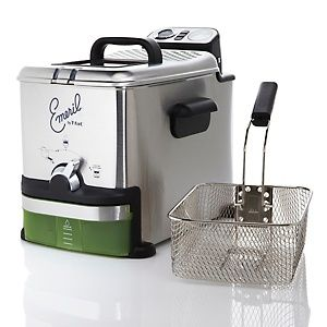 Emeril Stainless-Steel Fryer with Oil Filtration at HSN.com.