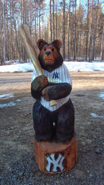 Chainsaw new york yankees and bears on pinterest