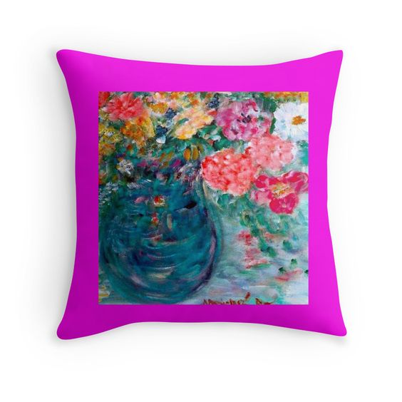 Exquisitely gorgeous, you will LOVE our decorative Stunning Romance Whimsical Designer Art Flower Throw Pillow featuring a stunning color palette inspired by the lush gardens of the English Country-side. The PERFECT GIFT! Our Magnificent Romance Whimsical Designer Art Flower Gift Collection is designed by artist Marie-Jose Pappas of Innocent Originals.