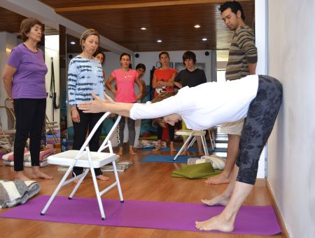 caption  yoga  pinterest  chair yoga iyengar yoga and
