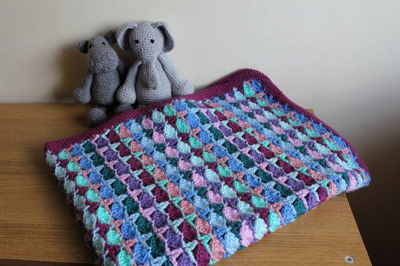Handmade crochet baby blanket by AmbersMedley on Etsy